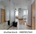 interior of a new modern... | Shutterstock . vector #488581564