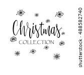 vector christmas set of... | Shutterstock .eps vector #488582740