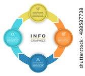 circular arrows for... | Shutterstock .eps vector #488587738