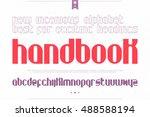 set of stylish alphabet letters ... | Shutterstock .eps vector #488588194