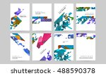 abstract business brochure... | Shutterstock .eps vector #488590378