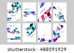 vector design set for business... | Shutterstock .eps vector #488591929
