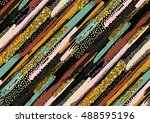 vector seamless pattern with... | Shutterstock .eps vector #488595196