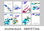 abstract vector compositions... | Shutterstock .eps vector #488597266