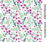 watercolor seamless pattern... | Shutterstock . vector #488598460
