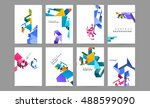 business abstract template... | Shutterstock .eps vector #488599090