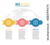business infographics. timeline ... | Shutterstock .eps vector #488599474