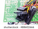 detail of old computer parts.... | Shutterstock . vector #488602666