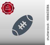american football ball vector... | Shutterstock .eps vector #488603086