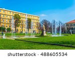 hospital of san giovanni... | Shutterstock . vector #488605534