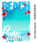 california beach t shirt...   Shutterstock .eps vector #488606869
