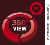 vector 360 degrees view icon... | Shutterstock .eps vector #488608840
