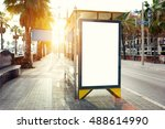 blank billboard with copy space ... | Shutterstock . vector #488614990