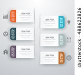 infographic design template... | Shutterstock .eps vector #488622826