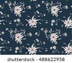 trendy seamless floral pattern... | Shutterstock .eps vector #488622958
