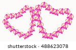 card pink orchid deuterium... | Shutterstock .eps vector #488623078