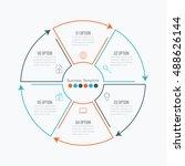 thin line infographic element.... | Shutterstock .eps vector #488626144