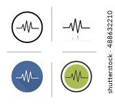 cardiogram icon. flat design ... | Shutterstock . vector #488632210