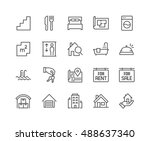 simple set of real estate... | Shutterstock .eps vector #488637340