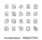 simple set of report related... | Shutterstock .eps vector #488637343