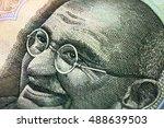 part of the indian paper money  ... | Shutterstock . vector #488639503