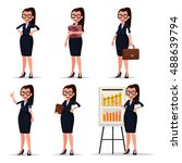 set character businesswoman ... | Shutterstock .eps vector #488639794