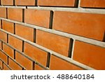 Bare Brick Wall Angle Closeup