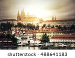 prague. view of hradcany with... | Shutterstock . vector #488641183