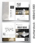 set of business templates for... | Shutterstock .eps vector #488641480