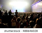 barcelona   apr 24  crowd in a... | Shutterstock . vector #488646028