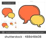 chat bubbles vector line icon... | Shutterstock .eps vector #488648608