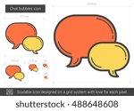 Chat Bubbles Vector Line Icon...