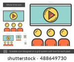 movie time vector line icon... | Shutterstock .eps vector #488649730