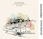 salzburg  salzburger land ... | Shutterstock .eps vector #488650450