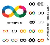 collection of infinity symbols  ... | Shutterstock .eps vector #488661364