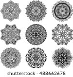 set of mandalas for coloring... | Shutterstock .eps vector #488662678