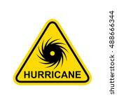 hurricane sign. vector | Shutterstock .eps vector #488666344
