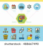 icon set internet  vector | Shutterstock .eps vector #488667490