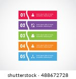 ribbon curve options of...   Shutterstock .eps vector #488672728