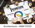 promotion product strategy... | Shutterstock . vector #488673520