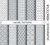 arabic vector pattern  web page ... | Shutterstock .eps vector #488673718