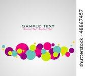 balls background | Shutterstock .eps vector #48867457