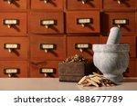 chinese herbal medicine | Shutterstock . vector #488677789