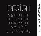 minimalist modern alphabet font ... | Shutterstock .eps vector #488679484