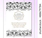 vintage delicate invitation... | Shutterstock .eps vector #488679784