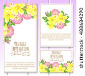 romantic invitation. wedding ... | Shutterstock .eps vector #488684290