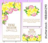 romantic invitation. wedding ... | Shutterstock .eps vector #488684290