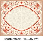 traditional floral vector frame ... | Shutterstock .eps vector #488687494
