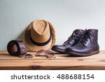 men's fashion with brown boots  ... | Shutterstock . vector #488688154