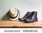men's fashion with brown boots... | Shutterstock . vector #488688160